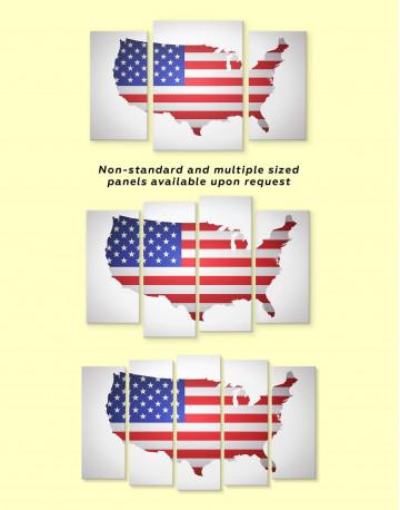 Patriotic USA Map Canvas Wall Art - image 2
