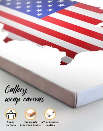 Patriotic USA Map Canvas Wall Art - image 1