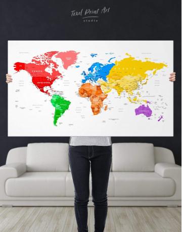 Detailed Push Pin World Map Canvas Wall Art - image 7