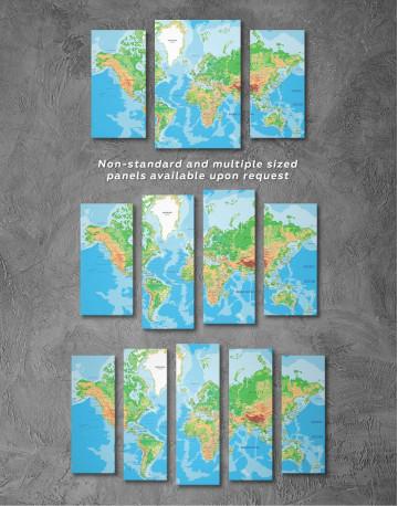 Physical Push Pin World Map Canvas Wall Art - image 2