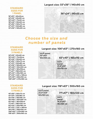 Physical Push Pin World Map Canvas Wall Art - image 3