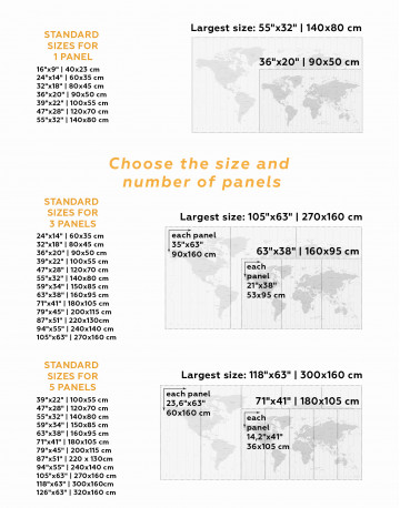 Time Zone World Map with Push Pins Canvas Wall Art - image 9