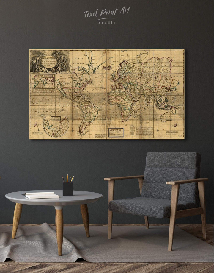 Old World Antique Map Canvas Wall Art - Image 0