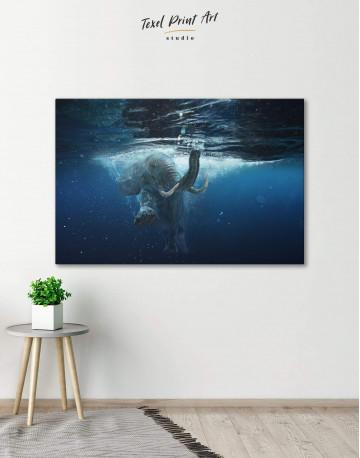 Underwater Elephant Canvas Wall Art - image 1