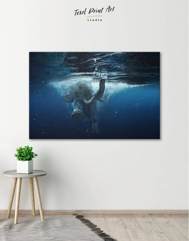 Underwater Elephant Canvas Wall Art - Image 6