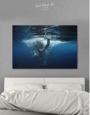Underwater Elephant Canvas Wall Art - Image 0