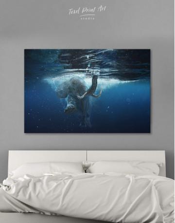 Underwater Elephant Canvas Wall Art
