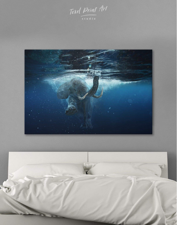 Underwater Elephant Canvas Wall Art - Image 0