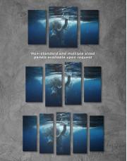 Underwater Elephant Canvas Wall Art - Image 5