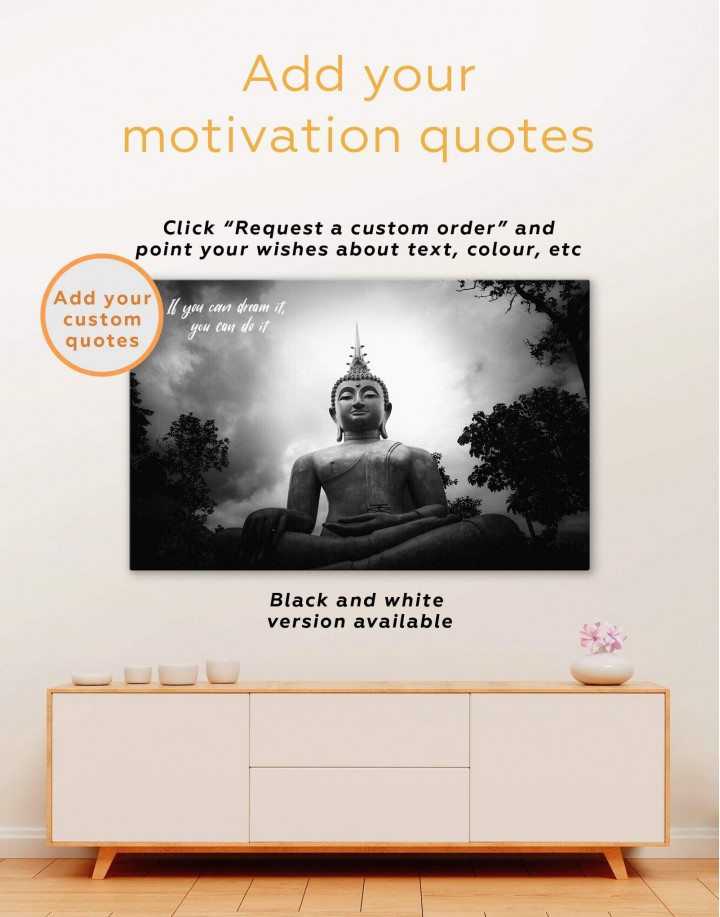 Buddha Spiritual Canvas Wall Art - Image 1