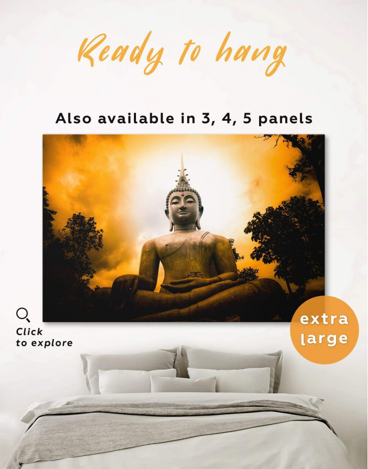 Buddha Spiritual Canvas Wall Art - Image 6