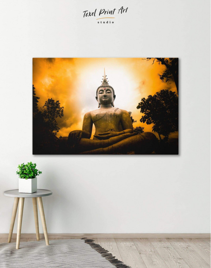 Buddha Spiritual Canvas Wall Art - Image 0