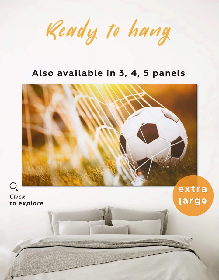 Football Match Canvas Wall Art - Image 0