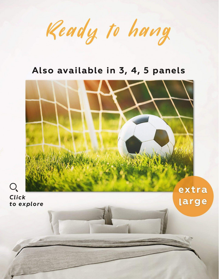 Football Game Canvas Wall Art - Image 0