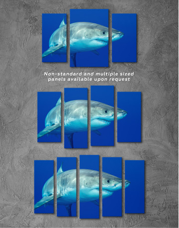 White Shark Ocean View Canvas Wall Art - image 3