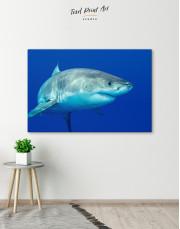 White Shark Ocean View Canvas Wall Art - Image 2