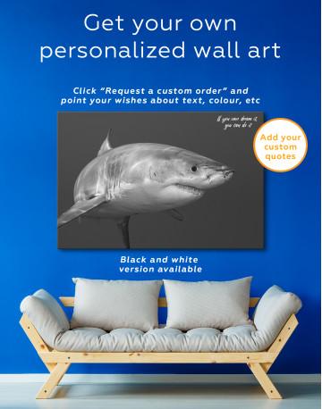 White Shark Ocean View Canvas Wall Art - image 4