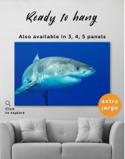 White Shark Ocean View Canvas Wall Art