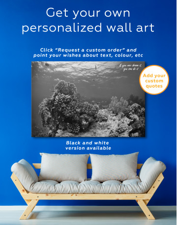 Underwater Coral Canvas Wall Art - image 4