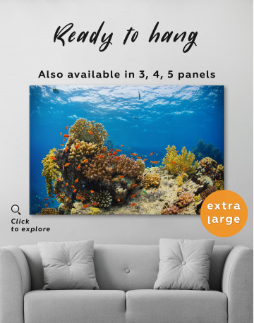 Underwater Coral Canvas Wall Art