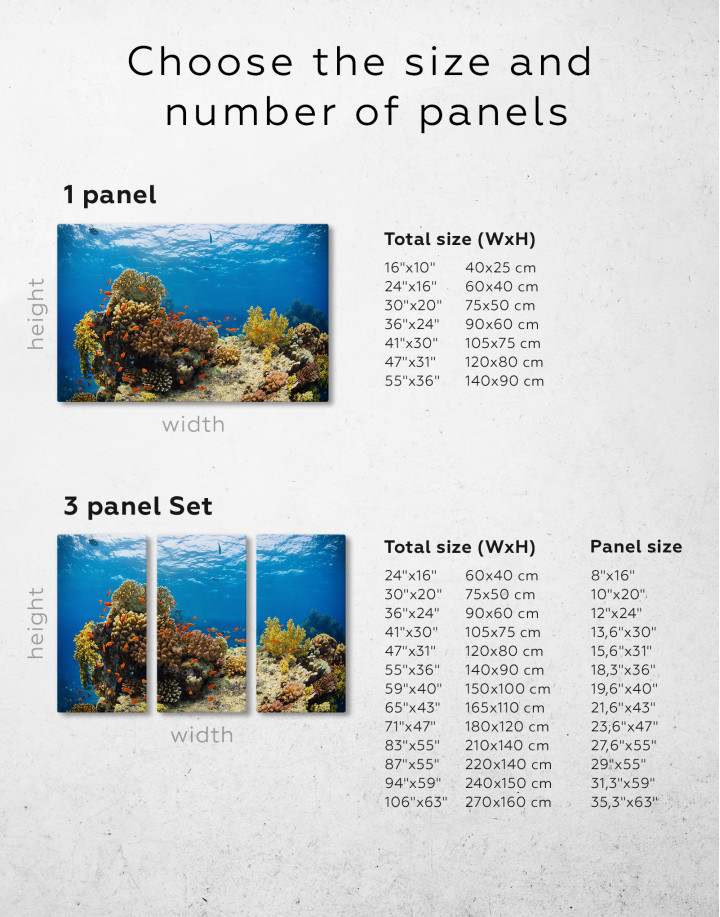 Underwater Coral Canvas Wall Art - Image 5
