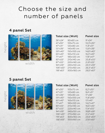 Underwater Coral Canvas Wall Art - image 6