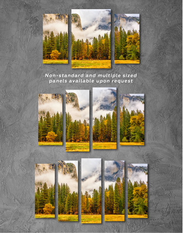 Beautiful Forest and Mountain Landscape Canvas Wall Art - image 3