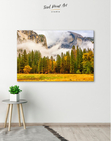Beautiful Forest and Mountain Landscape Canvas Wall Art - image 4
