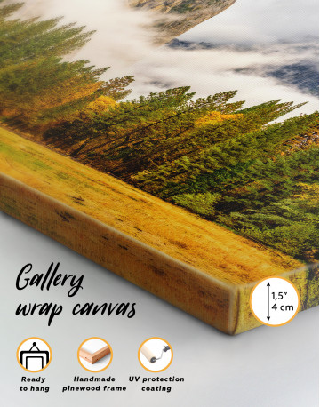 Beautiful Forest and Mountain Landscape Canvas Wall Art - image 5