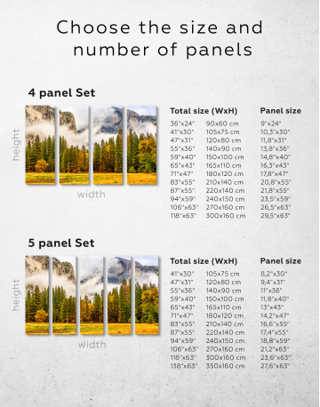 Beautiful Forest and Mountain Landscape Canvas Wall Art - image 2