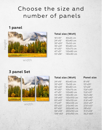 Beautiful Forest and Mountain Landscape Canvas Wall Art - image 1