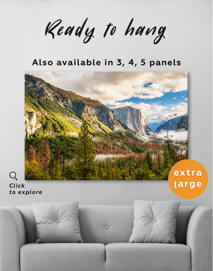 Yosemite National Park Landscape Canvas Wall Art - Image 4