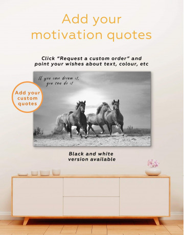 Running Wild Horses Canvas Wall Art - image 4