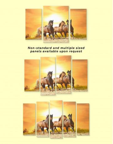 Running Wild Horses Canvas Wall Art - image 2