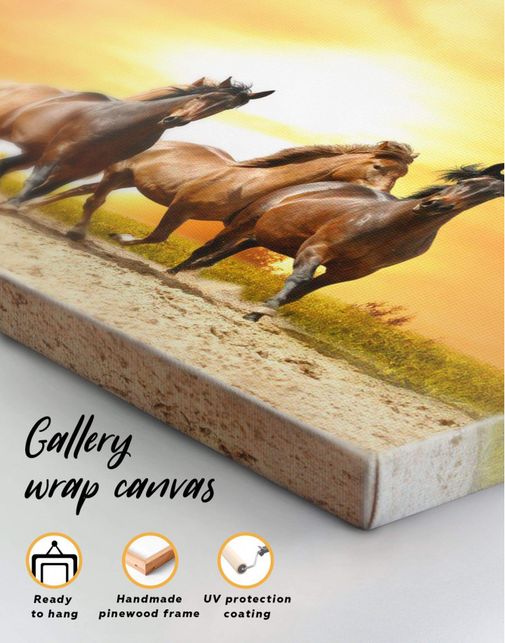 Running Wild Horses Canvas Wall Art - Image 1