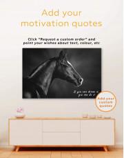 Horse Black Stallion Canvas Wall Art - Image 4