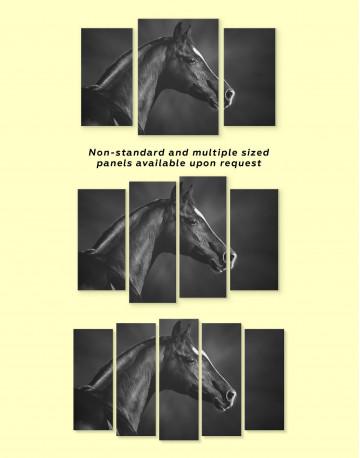 Horse Black Stallion Canvas Wall Art - image 3