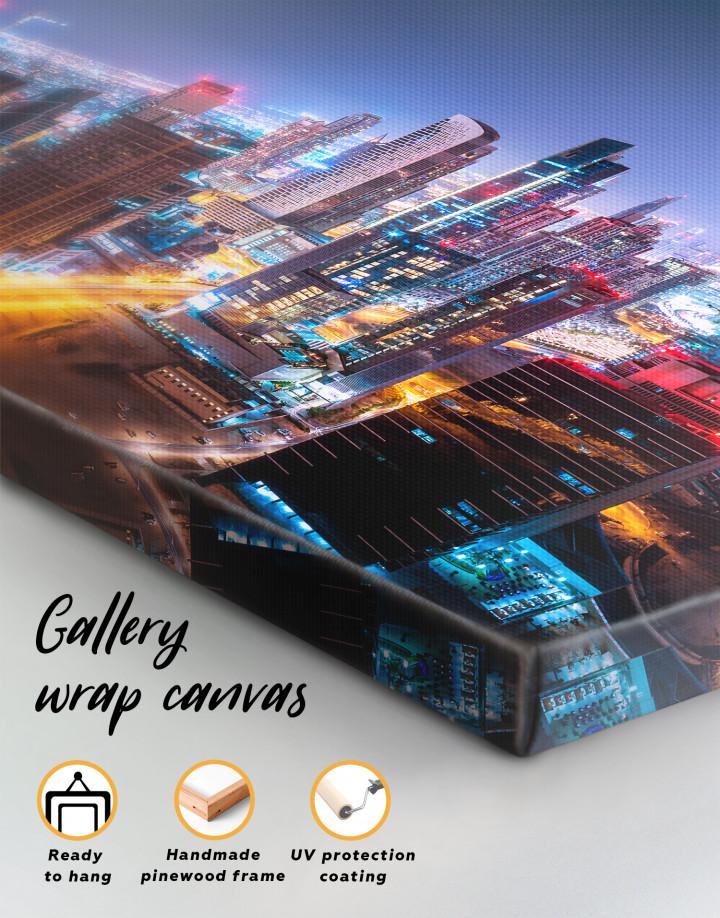 Night Dubai Cityscape Canvas Wall Art - Image 4