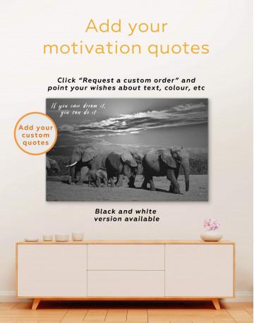African Elephants Safari Canvas Wall Art - image 2