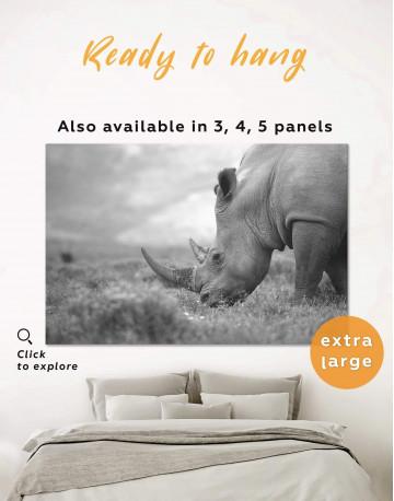 Wandering Rhino Canvas Wall Art