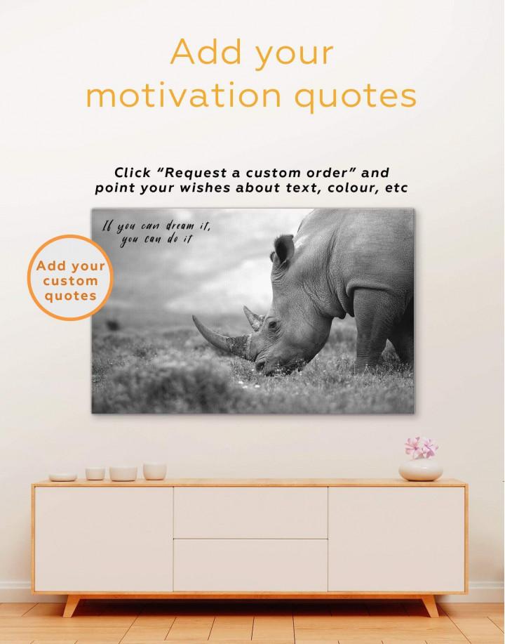 Wandering Rhino Canvas Wall Art - Image 1