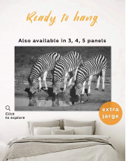 Black and White Zebras Canvas Wall Art - Image 0