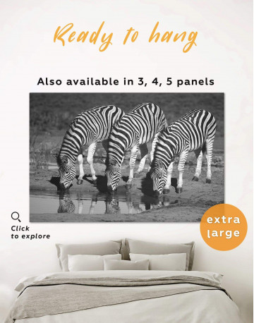 Black and White Zebras Canvas Wall Art