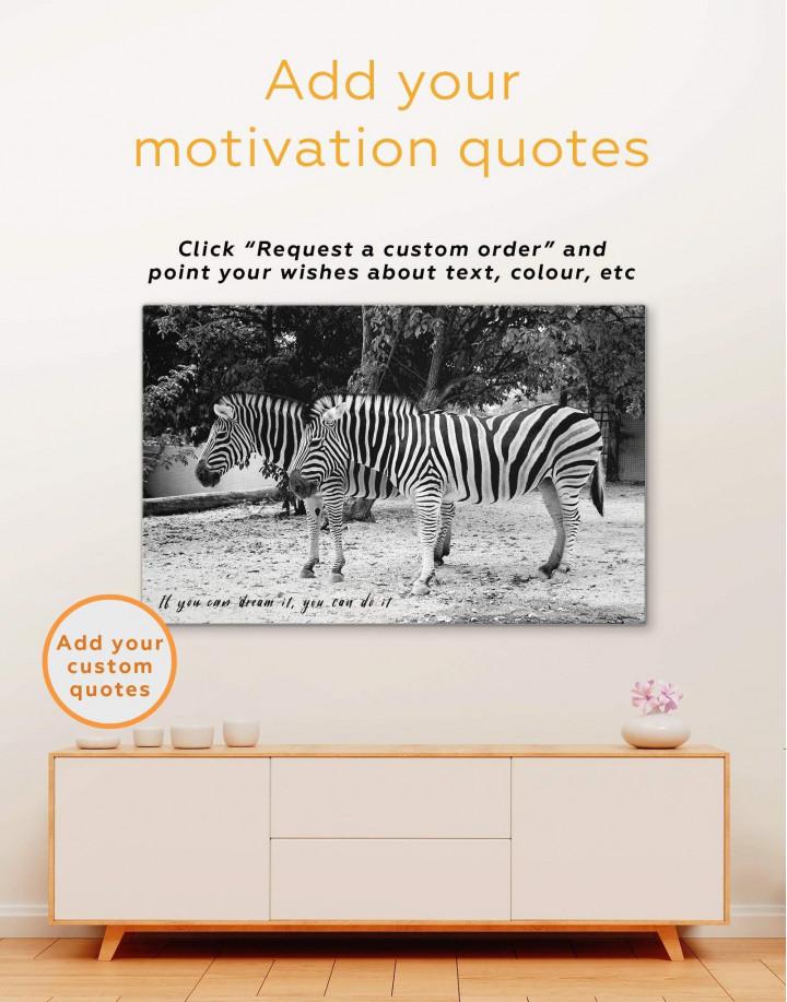 African Zebras Canvas Wall Art - Image 3