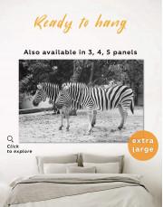 African Zebras Canvas Wall Art - Image 0