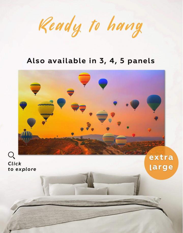 Cappadocia Air Balloons Canvas Wall Art - Image 0