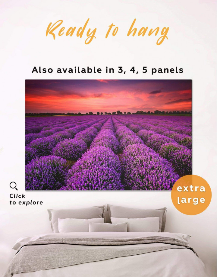 Violet Wildflowers Canvas Wall Art - Image 0