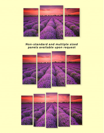 Violet Wildflowers Canvas Wall Art - image 1