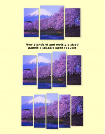 Japanese Mount Fuji Cherry Blossom Canvas Wall Art - image 2