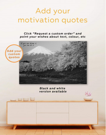 Japanese Mount Fuji Cherry Blossom Canvas Wall Art - image 1